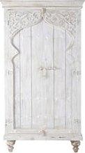 Mango wood wardrobe in white W 102cm Sinbad
