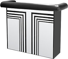 Manhattan Mirrored Bar Table With Faux Leather Arm