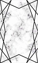 MANI TEXTILE Croisé Rug, Polyester, Black, 120 x