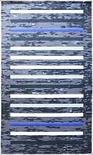 MANI TEXTILE Rayures Rug Polyester Black 40 x 60