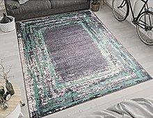 MANI TEXTILE Ring Rug, Polyester, Black, 80 x 150