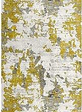 MANI TEXTILE Rug, Polyester, Yellow, 120 x 180