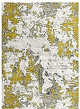 MANI TEXTILE Rug, Polyester, Yellow, 50 x 80