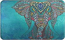 MANISENG Bath Mat Bathroom Rugs,Elephant Indian