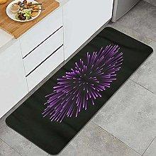 MANISENG Kitchen Rug,Beautiful Firework Bright