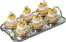 Mankvis 6Pcs Artificial Fruit Cake Set, with A