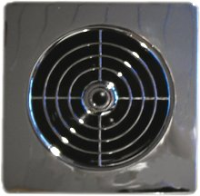 Manrose 4' Low Profile Chrome Extractor Fan