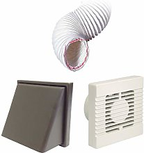 Manrose Extractor Timer Fan Brown Hooded Vent