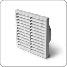Manrose Fixed louvred Wall Grille, 125mm Diameter,