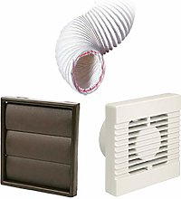 Manrose Timer Extractor Fan Brown Air Vent Ducting