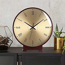 Mantel Clock, 10 Inch Silent Mantle Clock Battery
