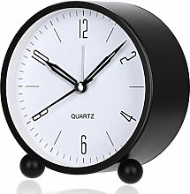 Mantel Clock 4 Inch Round Battery Operated Analog