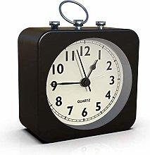 Mantel Clock Alarm Clock With Square Metal