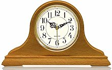 Mantel Clock Battery Operated, Silent Wood Mantle