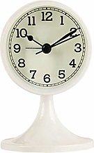Mantel Clock Retro Round Silent Alarm Clock