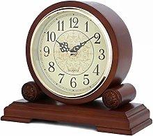 Mantel Clock Silent Decorative Wood Desk Clock