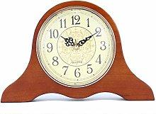 Mantel Clock Silent Decorative Wood Mantle Clock