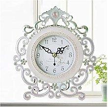 Mantel-Clock Table Metal Desk Clock Antique Mute