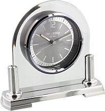 Mantel Clock Wm Widdop Finish: Silver