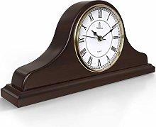 Mantel Clock, Wooden Mantle Clock for Living Room