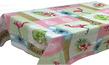 Mantel Tablecloth: Flamingo/200cm x 150cm