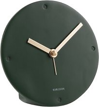 Mantel Tabletop Clock Karlsson Finish: Dark Green