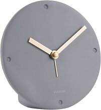 Mantel Tabletop Clock Karlsson Finish: Dark Grey