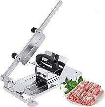 Manual Frozen Meat Slicer, Adjustable Thickness