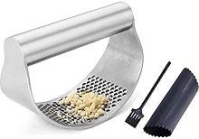 Manual Garlic Press Stainless Steel Curved Garlic