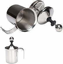 Manual Milk Frother, Milk Warmer and Frother, Hot