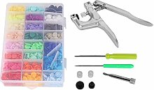 Manual Snap Fastener Tool Set, Multicolored Snap