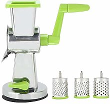 Manual Vegetable Slicer, Cheese Grater Rotary Drum