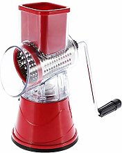 Manual Vegetable Slicer Rotary Drum Grater with 3