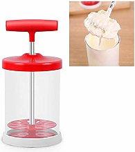 Manual Whipped Cream Maker - Handheld DIY Whipped