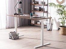 Manually Adjustable Desk Dark Wooden Tabletop
