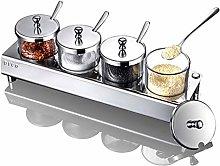 MANXUEUP Spice Rack Seasoning Box Stainless Steel