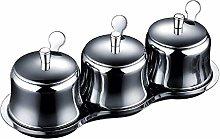 MANXUEUP Spice Rack Stainless Steel Seasoning Jar