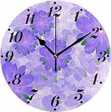 Many Lilac Flowers Wall Clocks Home Wall Decor