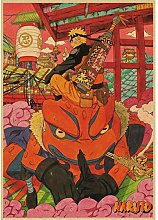 manyaxiaopu Naruto Vintage Retro Anime Poster