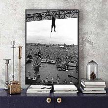 manyaxiaopu Pearl Jam Photo Poster Art Canvas Art