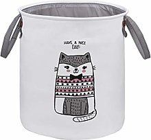 MaoXinTek Laundry Basket Waterproof Canvas Fabric