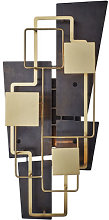 Map 2 Wall light by DCW éditions Black,Brass