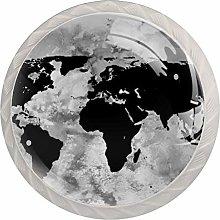 Map Black White Crystal Drawer Handles Furniture