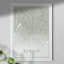 Map of Berlin Print - Map Wall Art | Travel Poster