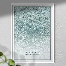 Map of Paris Print - Map Wall Art | Travel Poster