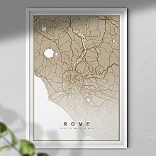 Map of Rome Print - Map Wall Art | Travel Poster |