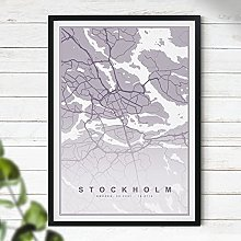 Map of Stockholm Print - Map Wall Art | Travel