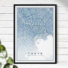 Map of Tokyo Print - Map Wall Art | Travel Poster