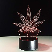 Maple Leaf 3D LED Visual Illusion Lamp Transparent
