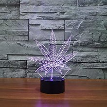 Maple Leaf Colorful led Creative Night Light 3D
